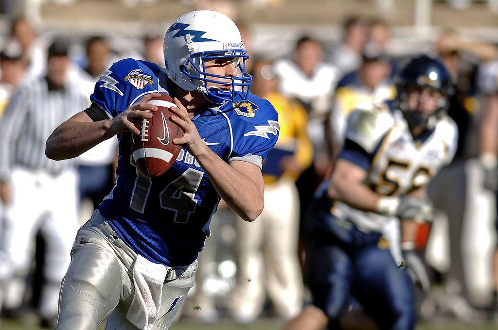 Un quarterback en action