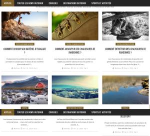 Capture d'écran de la seconde partie de la page d'accueil du site Mountain-Spirit.fr