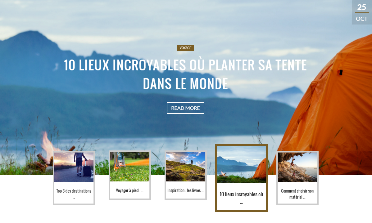 Capture d'écran de la page d'accueil du site Mountain-Spirit.fr
