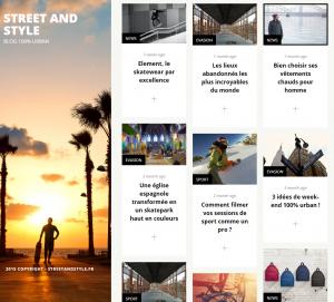 Capture d'écran du site StreetAndStyle.fr